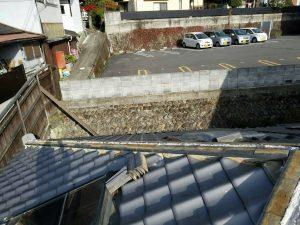 奈良県吉野郡K様 屋根修理 隅棟の瓦交換