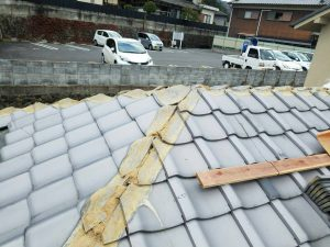 奈良県吉野郡K様 屋根修理 棟瓦のめくり3