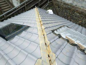 奈良県吉野郡K様 屋根修理 棟瓦のめくり2