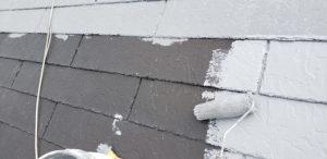 磯城郡三宅町 冬は断熱で夏は遮熱のガイナを屋根に塗装