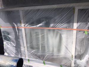 奈良県橿原市N様 外壁塗装前の養生シートを張る1