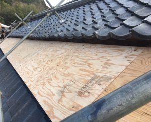 奈良市 屋根の下地造作1