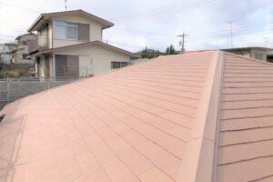 【三重県名張市】屋根リフォーム|30年色あせしにくく遮熱効果があるスレート屋根に葺き替え