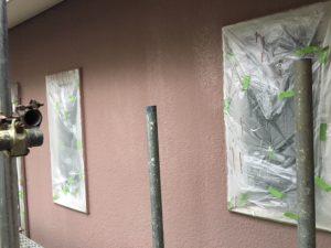 奈良県橿原市N様 外壁塗装前の養生シートを張る2