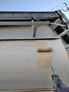 奈良県橿原市車庫シャッター塗装