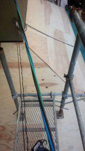 三重県名張市 屋根の下地張り工事6