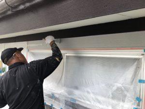 橿原市 20年持って遮熱も断熱効果あるガイナで外壁塗装