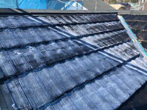 ローラーで手塗り4|屋根塗装 奈良県宇陀市