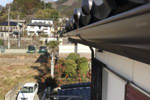 奈良県桜井市 雨樋の継ぎ目からの雨漏りで一部交換工事