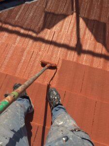 屋根塗り替え 3回目の上塗り3