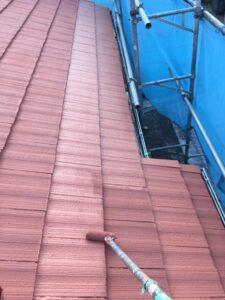 屋根塗り替え 3回目の上塗り2