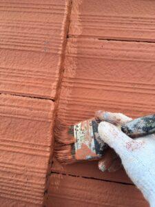 屋根塗り替え 3回目の上塗り1