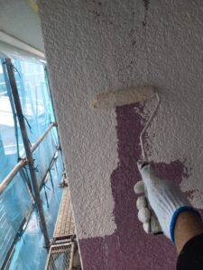 奈良県宇陀市 外壁塗装 中塗り4