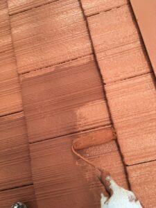 屋根塗り替え 3回目の上塗り4