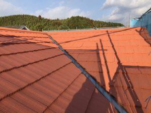 屋根塗り替え 3回目の上塗り5