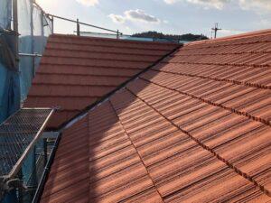 屋根塗り替え 3回目の上塗り6