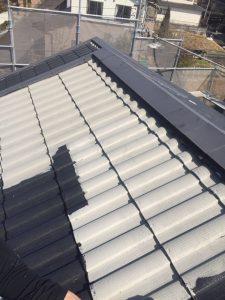 三重県名張市屋根にガイナ塗装3