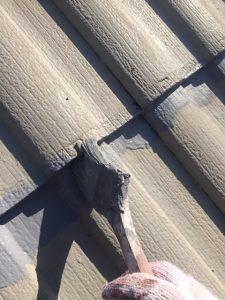 三重県名張市 屋根ガイナ塗装上塗り2