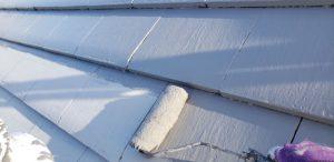 奈良県宇陀市 電気代が安くなるガイナを屋根に塗装