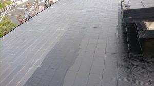 奈良県橿原市 屋根塗装 中塗り1