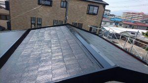 奈良県橿原市 屋根塗装 中塗り完成1