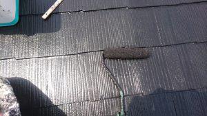 奈良県橿原市 屋根塗装 上塗り1