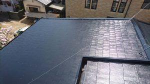 奈良県橿原市 屋根塗装 上塗り完成1