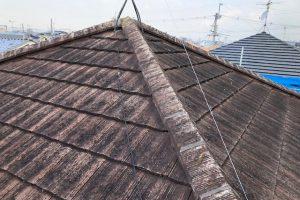 奈良県橿原市 火災保険で洋瓦の修理後ついでに塗装