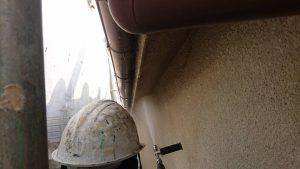 橿原市 外壁塗装前の高圧洗浄1
