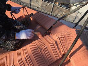 橿原市 電気代が安くなる断熱セラミックガイナで屋根塗装