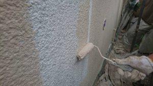 橿原市 寒い暑いうるさいが解消されるガイナを外壁に塗装