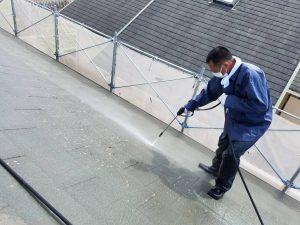 名張市 20年長持ちする断熱セラミックガイナを屋根塗装