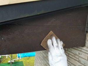 奈良県 板金塗装前の下地処理 マジックロンで擦る