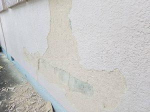 香芝市 膨らんだ外壁を落とす3