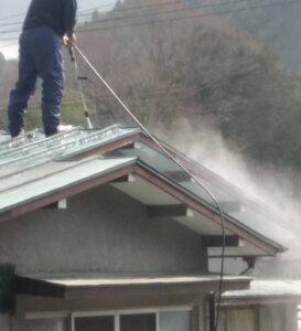 三重県名張市 屋根塗装 高圧洗浄3