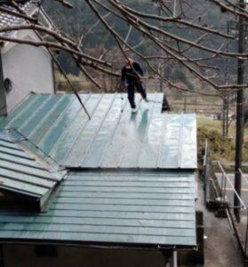 三重県名張市 屋根塗装 高圧洗浄4