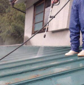 三重県名張市 屋根塗装 高圧洗浄5