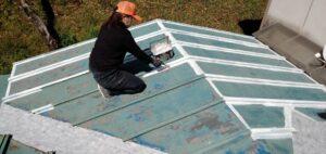 三重県 名張市 屋根塗装 下塗り1