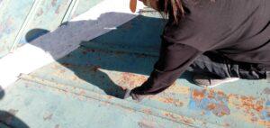 三重県 名張市 屋根塗装 ケレン