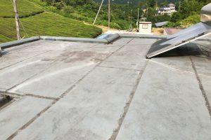 橿原市 雨漏りしてきた陸屋根にウレタン防水塗料を塗装