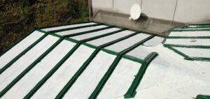 三重県 名張市 屋根塗装 中塗り3