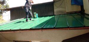 三重県 名張市 屋根塗装 上塗り1