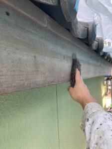【三重県名張市】外壁塗装|木部の破風板は木の温かみを残すキシラデコール