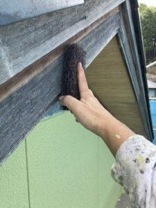 マジックロンで磨く2 木材塗装 三重県名張市