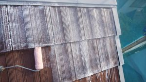 奈良県橿原市Y様屋根下塗り塗装2