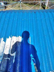 三重県伊賀市M様倉庫の屋根塗装リフォーム工事